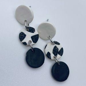 Handmade Black & White Earrings
